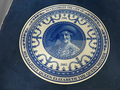 Wedgwood Plate - To Celebrate The Life Of Queen Mother 1900 - 2002