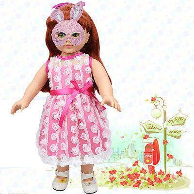 Cute Doll Clothes Flower Dress for 18 inch Doll Baby Kids Toys