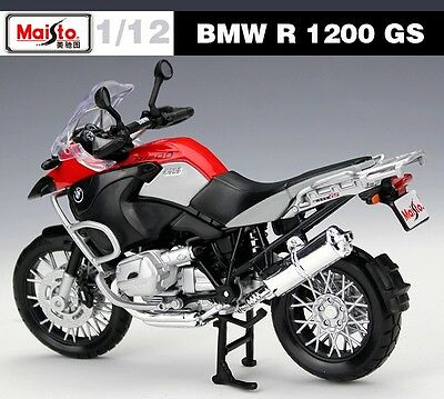 BMW R1200GS Racing Motor Diecast Motorcycle 1:12 Scale MAISTO Model Kids Toy