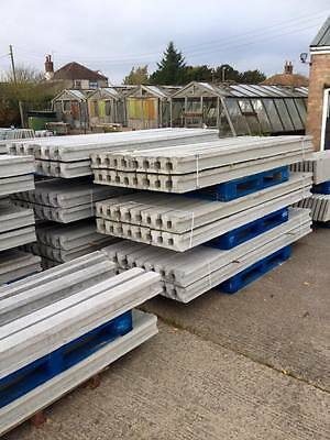 9Ft Concrete Slotted Fence Posts Steel Reinforced X10 New  Free Local Delivery