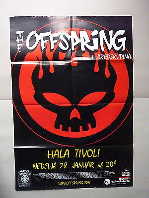 The Offspring / 28.01.2001. / Ljubljana / Original Slovenian Concert Poster
