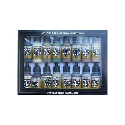 Vallejo Model Air: WWII Allied Colors 16 Bottles Acrylic Paint VAL71180