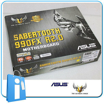 Placa base ATX ASUS SABERTOOTH 990FX R2.0 Socket AM3 con Accesorios