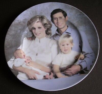The Royal Family Prince & Princess of Wales, Prince William & Henry - Plate