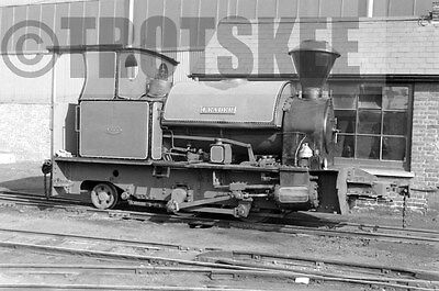 Larger Negative Industrial Steam Bowaters Railway Sittingbourne Leader 1958