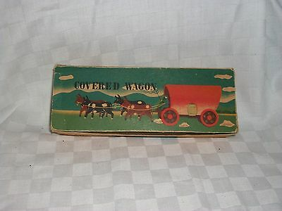 Made In Japan Vintage Toy Unusual Covered Wagon with original box 1960s ?
