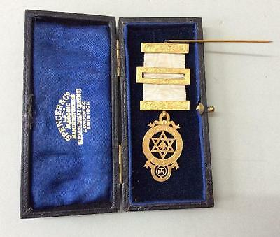 Vintage Masonic Medal By Spencer, London. In Its Original Box.