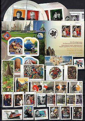 A12082/ Canada / Lot Stamps 2011/ Mint Mnh 118€