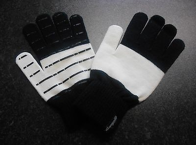 Campagnolo Heritage Wool Cycling Gloves size LARGE-XL BLACK/WHITE ****