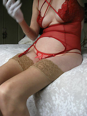 Stunning!  - See-through Red Panties - One Size