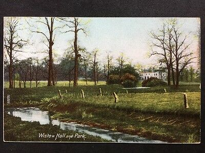 RP Vintage Postcard - Leicestershire #A3 - Wistow Hall & Park - 1907 Wrench