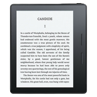 Amazon Kindle Oasis Wi-Fi eReader with Leather Charging Cover *BRAND NEW*