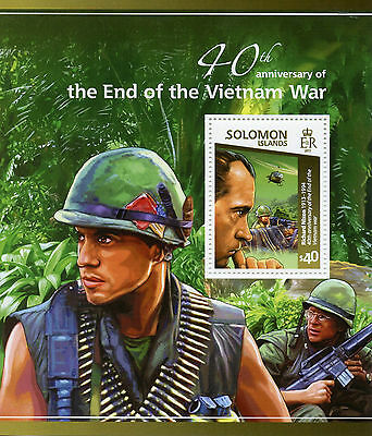 Solomon Islands 2015 MNH End of Vietnam War 40th 1v S/S Richard Nixon Stamps
