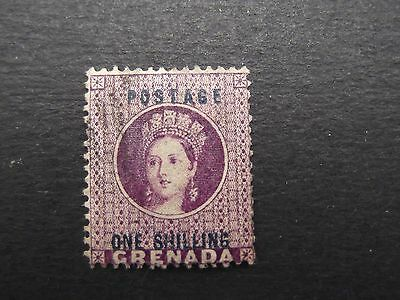Grenada - Victoria 1875 One Shilling Surcharge Used