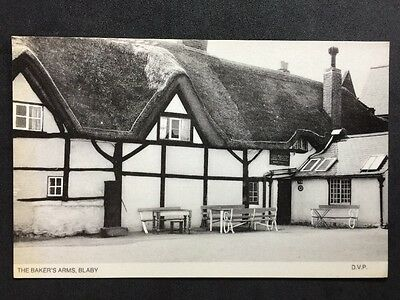 RP Vintage Postcard - Leicestershire #C1 - Bakers Arms, Blaby - Thatched Pub