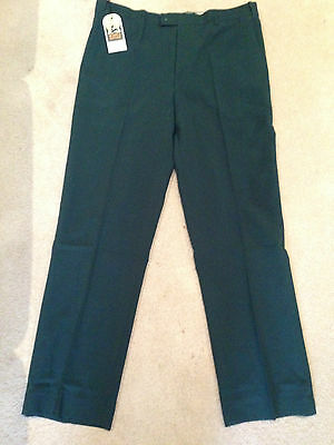 bottle green lawn bowls tailored pants x 3 pairs