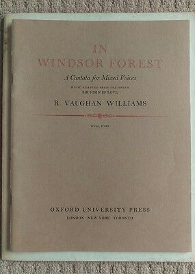 R. Vaughan Williams - IN WINDSOR FOREST -  Music Score