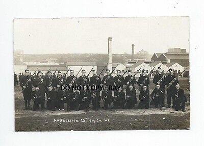 No 3 Section, 25Th Sig. Co 41, Wwi  Scotland,  Glasgow,  Real Photo