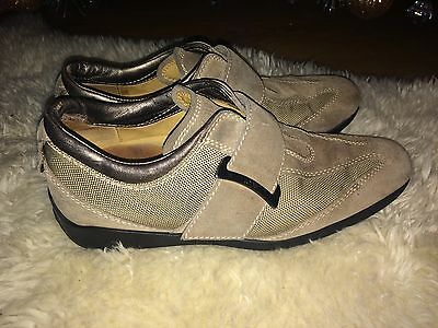 TOD'S Ladies Beige Suede & Leather Lace Up Wedge Trainers Size UK 3 EU36,Us 6.