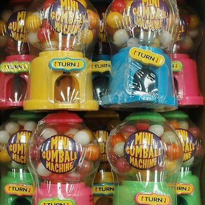 12 x Toy Mini Gumball Machine Party Bags Wholesale Sweets,