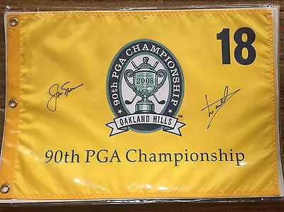 Golf Flag Signed By Jack Nicklaus And Luke Donald