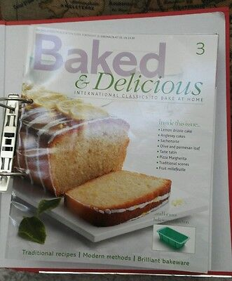 Baked & Delicious Magazines By Eaglemoss: 25 issues, baking/ cake making/ bread