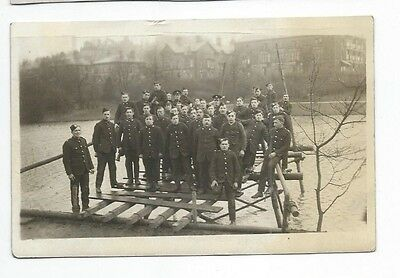 Group Of Soldiers  Wwi  Scotland,  Glasgow,  Real Photo By Hunters, Buxton