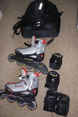Rollerblade branded Rollerblades bundle Kids size 13.5 to 4.5 Extendible