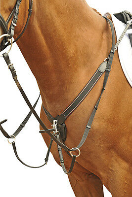 HKM Breastplate With Martingale - Black - Pony