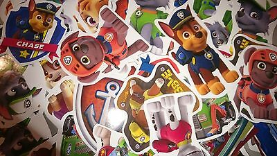 PAW PATROL 50 OR 100 mini stickers PARTY BAG FILLERS