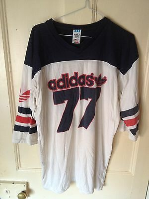 Vintage Adidas Graphic T Shirt Long Style Sleeve Men's Size L/XL
