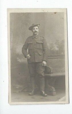 Soldier With Moustache ,  Wwi  Scotland,  Glasgow,  Real Photo