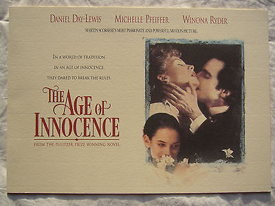 The Age of Innocence Original 1993 Press Pack Kit Martin Scorsese Day-Lewis