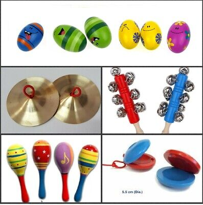 Wooden Maraca / Jingle Stick / Cymbals / Castanet / Egg Percussion Musical Hand