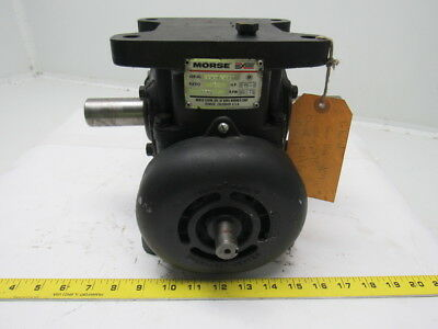 Morse 25RW-5 Single Reduction Fan Cooled Worm gear Speed Reducer 5:1 Ratio