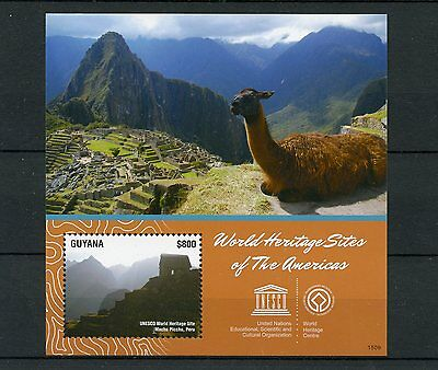 Guyana 2015 MNH UNESCO World Heritage Sites 1v S/S Machu Picchu Peru Stamps