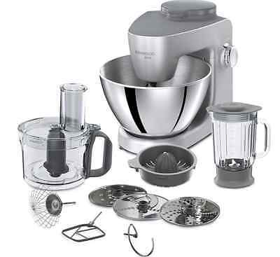 KENWOOD Multione KHH321SI Stand Mixer Silver 7 Accessories New