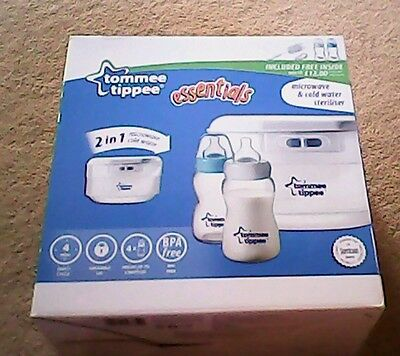 Tommee tippee microwave steriliser including new bottles and new brush