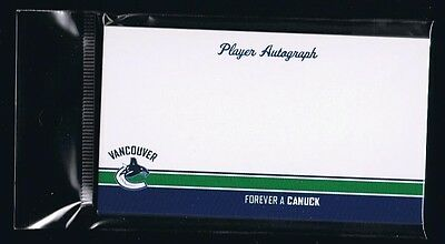 Ten (10) Vancouver Canucks Blank Autograph Cards - Perfect for mail in autos