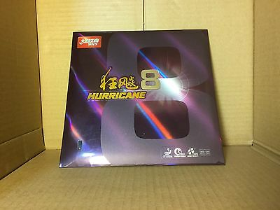 Original DHS HURRICANE 8 Table Tennis Rubber Ping Pong Black 2.15 ITTF approved