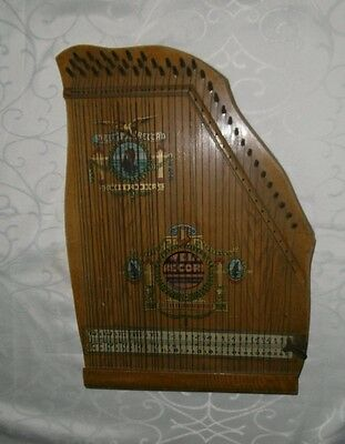 Zither der Marke Welt-Record -DDR  Antik instrument Made saxony Germany.