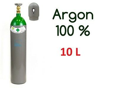 NEW 100% Argon 4.8 Gas FULL Bottle Cylinder 10 Liter 200 Bar Pure Welding Gas