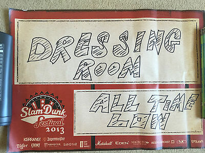 All time low slam dunk 2013 dressing room sign, rare, obtained backstage