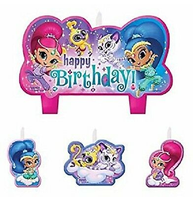 Shimmer and Shine Birthday Party Cake Candles, Set of 4