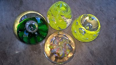 Collection Of Four Glass Paperweights