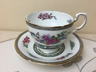 Vintage Paragon Tree of Kashmir Large Breakfast Footed Tea Cup & Saucer Rare