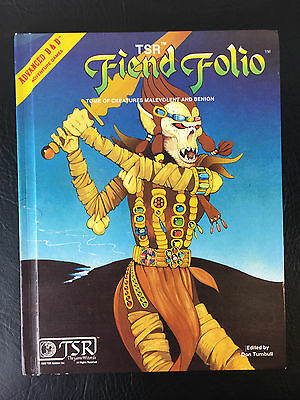 1981 TSR AD&D FIEND FOLIO 1ST PRINTING  Excellent Hardcover Dungeons & Dragons