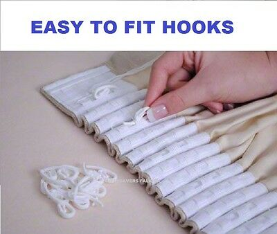 Nylon Curtain White Hooks Plastic for Curtains with Curtain Rings & Header Tape*