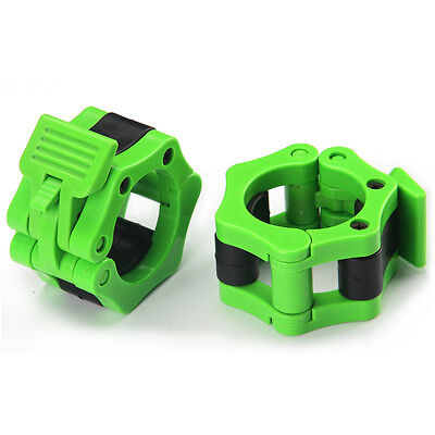 50mm A Pair Lock Jaw Collars Olympic Barbells Muscle Clamp Bar Lockjaw 2''Green