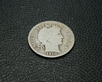 Barber Dime - 1910 S   - Only 1.2 Million Minted